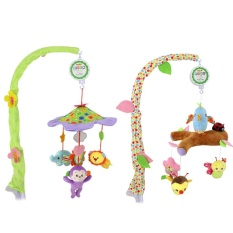 Review Dsstyles Musical Stroller Crib Toy Mobile Bed Bell Lovely Animals Rotating Hanging Bells For Boys And Girls Color Green Intl On China
