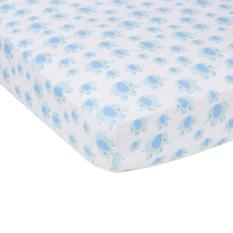 Price Muslin Cotton Crib Sheet By Miracleware Elephants Blue Miracleware
