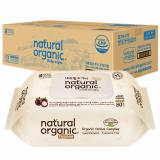 Recent Natural Organic Baby Premium Wipes With Cap 80 Sheets X 10 Packs