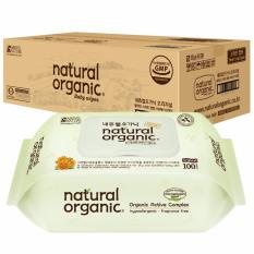 Cheapest Natural Organic Original Baby Wipes With Antibacterial Cap 100 Sheets X 10 Packs