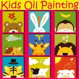Cheap Set Of 3 Kids Oil Painting Canvas Set Animal Series