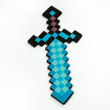 Sale New Blue Minecraft Style Foam Diamond Sword Mosaic Weapons Toys Kids Gift Online On China
