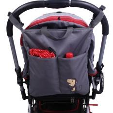 Top Rated New Brand Cartoon Gray Baby Stroller Organizer Accessories Big Capacity Waterproof Bebe Carriage Bag Intl