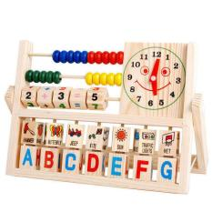 New Children Baby Kids Learning Developmental Versatile Flap Abacus Wooden Toys Intl Coupon