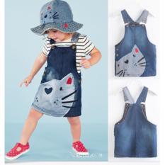Buy New Cute Cat Baby Kids Girls Toddler Denim Jeans Overalls Dress Skirt Clothes