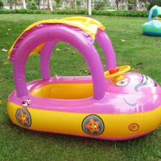 Cheaper New Inflatable Baby Swim Float Circle Ring Kids Seat With Sunshade Protection Intl