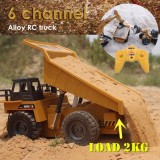 New Upgrade Huina 1540 1 18 2 4G 6Ch Rc Alloy Dump Truck Auto Demonstration Function Intl Cheap