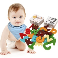 New Wooden Letter Digital Card Kid Educational Toys Kids Toys( Letter) - Intl By Crystalawaking.