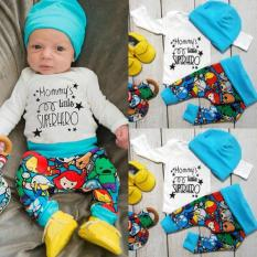 Newborn Baby Boys Superhero T-Shirt Pants Leggings Hat 3pcs Outfits Clothes Set Mom - Intl By Magic Peter.