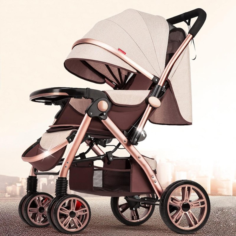 Newborn Carriage Baby Stroller Infant Travel Landscape Foldable Pushchair Pram - intl Singapore