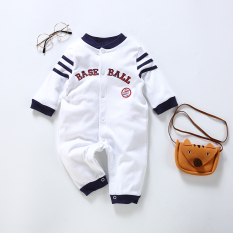 Discount Baby Newborn Children 3 A Month Long Sleeved Romper Baseball Clothes