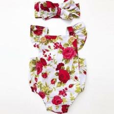 bef57f3de5c Newborn Infant Baby Girl Floral Bodysuit Romper Jumpsuit Clothes Outfits  Sunsuit 80cm - intl
