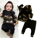 For Sale Newborn Kids Baby Boys Camooutfits Set Tops Hoodie Long Pants 2Pcs Clothes