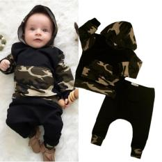 Buy Newborn Kids Baby Boys Camooutfits Set Tops Hoodie Long Pants 2Pcs Clothes Oem Cheap