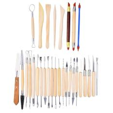 Niceeshop 30pcs Clay Sculpting Tools Pottery Carving Tool Set Wooden Handle Modeling Clay Tools By Nicee Shop.