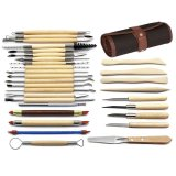 Compare Niceeshop 30Pcs Clay Sculpting Tools Pottery Carving Tool Set Wooden Handle Modeling Clay Tools With Pouch Bag Intl Prices