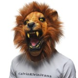 Best Offer Niceeshop Halloween Props *d*lt Angry Lion Head Masks Animal Full Latex Masquerade Birthday Party Rubber Silicone Face Mask Fancy Dress Intl