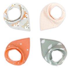 Niceeshop Waterproof Cotton Baby Saliva Towel Bibs With Snaps Unisex, 1 Set/4 Pieces By Nicee Shop.