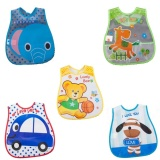 Best No 1 5Pcs Pack Baby Bibs Eva Waterproof Lunch Bibs Boys Girls Infantscartoon Meals Pocket Bib Burp Cloths Bebe Toddler Self Feeding Care Intl