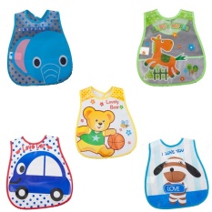 For Sale No 1 5Pcs Pack Baby Bibs Eva Waterproof Lunch Bibs Boys Girls Infantscartoon Meals Pocket Bib Burp Cloths Bebe Toddler Self Feeding Care Intl
