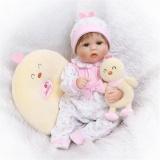 Best Rated Npk 17 Realistic Lifelike Handmade Reborn Baby Doll Soft Silicone Vinyl G*Rl Doll Intl