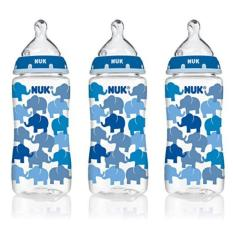 Where Can You Buy Nuk Elephants Baby Bottle With Perfect Fit N*ppl* 10 Ounces 3 Pack Blue