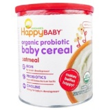 Buy Nurture Inc Happy Baby Organic Probiotic Baby Cereal Oatmeal 7 Oz 198 G Happy Baby Online