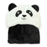Discounted Ocean Hot 3D Animal Baby Infant Newborn Hooded Bath Towel Blankets(Black) Intl