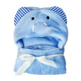 Cheap Ocean Hot 3D Animal Baby Infant Newborn Hooded Bath Towel Blankets(Blue) Intl Online
