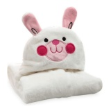 Great Deal Ocean Hot 3D Animal Baby Infant Newborn Hooded Bath Towel Blankets(White) Intl