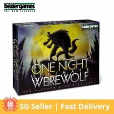One Night Ultimate Werewolf Card Board Game 3 10 Players Compare Prices