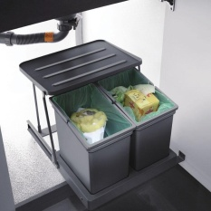 Oppein Pull Out Kitchen Under Sink Trash Can Bin Waste Container - To Suit A 450mm Unit - Intl By Oppeinhome.