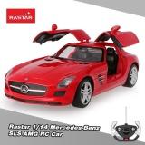 Original Rastar 47600 27Mhz 1 14 Mercedes Benz Sls Amg Rc Super Sports Car Simulation Model With Retractable Door Intl Free Shipping