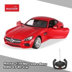 Brand New Original Rastar 74000 27Mhz 1 14 Mercedes Benz Amg Gt Rc Super Sports Car Simulation Model With Remote Control Door Intl