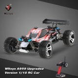Great Deal Original Wltoys A959 Upgraded Version 1 18 Scale 2 4G Remote Control 4Wd Electric Rtr Off Road Buggy Rc Car Intl