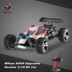 Buy Original Wltoys A959 Upgraded Version 1 18 Scale 2 4G Remote Control 4Wd Electric Rtr Off Road Buggy Rc Car Intl Cheap China