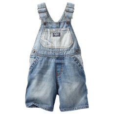 Oshkosh B Gosh Hickory Blocked Shortalls Size 9M Lowest Price