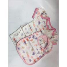 Get The Best Price For Oshkosh G*rl Baby Romper Bib Set White 6M