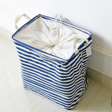 Low Price Mimosifolia Outdoor Garden Picnic Baskets Bathroom Folding Storage Bins With Cubes Archival Storage Boxes For Clothes Toy Boxes Laundry Basket Shelf Baskets Blue Stripes