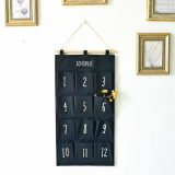 Retail Mimosifolia Over The Door Storage Bathroom Wall Door Organizer System Baby Closets Storage Hanging Pockets 12 Pockets Numbers 1 12 Black