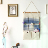 Buy Mimosifolia Over The Door Storage Bathroom Wall Door Organizer System Baby Closets Storage Hanging Pockets Blue Stripes 8 Pockets Mimosifolia Online