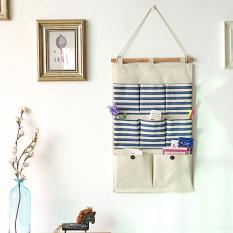 Best Price Mimosifolia Over The Door Storage Bathroom Wall Door Organizer System Baby Closets Storage Hanging Pockets Blue Stripes 8 Pockets