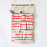 Discounted Mimosifolia Over The Door Storage Bathroom Wall Door Organizer System Baby Closets Storage Hanging Pockets Red Stripes 8 Pockets