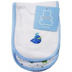 Owen 2Pc Burp Cloth Blue White Online
