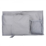 Discounted Oxford Fabric Baby Bedside Hanging Storage Bag Book Bottle Phone Organizer Pocket Gray Intl