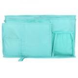 Cheap Oxford Fabric Baby Bedside Hanging Storage Bag Book Bottle Phone Organizer Pocket Lake Blue Intl