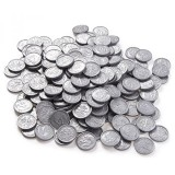 Pack Of 200 Play Coins Fake Plastic Dime Coins Pretend Money Great Teaching Tool Prop Kids Toy 77 Inches In Diameter Silver Intl Price