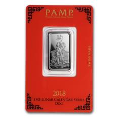 Buy Pamp Suisse Lunar Series 2018 Year Of The Dog 10 Grams Silver Bar Cheap Singapore