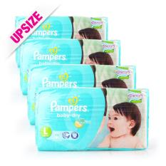 Retail Price Pampers Baby Dry Diapers L 9 14Kg 46Pcs X 4Packs