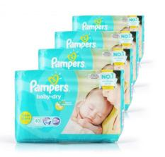 Price Pampers Baby Dry Diapers Size New Born 40 Pcs X 4 Packs On Singapore
